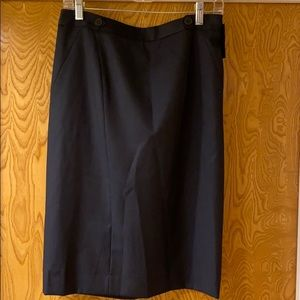 NWT Classiques Entier navy wool skirt size 10P